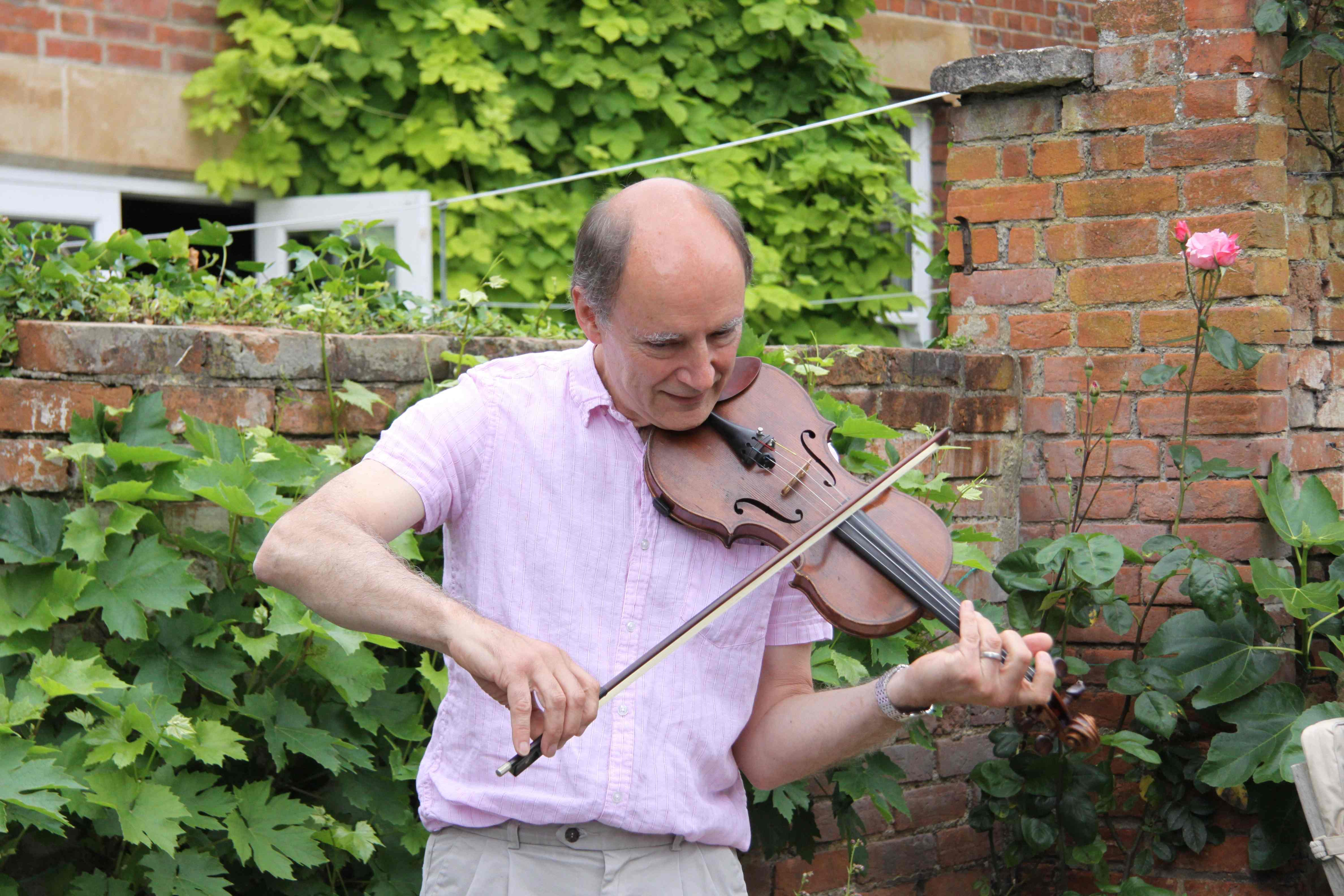 Philiip with violin